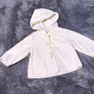 Other - Baby girl floral embroidered sweet cream jacket
